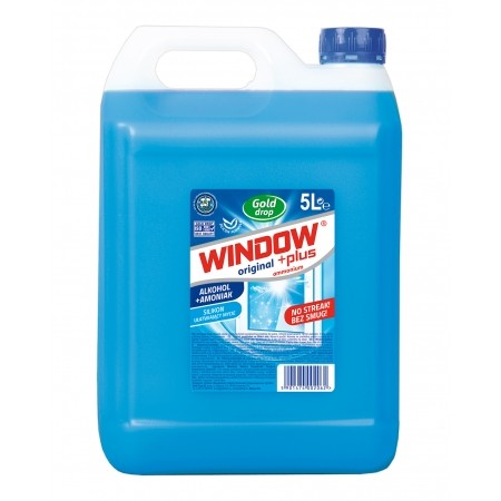 Płyn do szyb i luster  WINDOW PLUS Ammonium 5 L